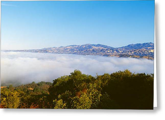 Padres Greeting Cards - Clouds Over An Ocean, Los Padres Greeting Card by Panoramic Images