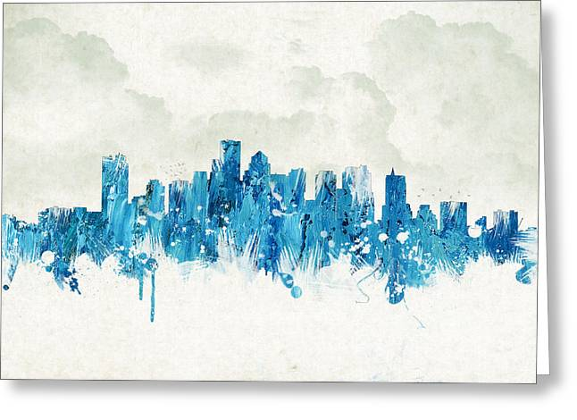 Clouds Over Boston Massachusetts Usa Greeting Card by Aged Pixel