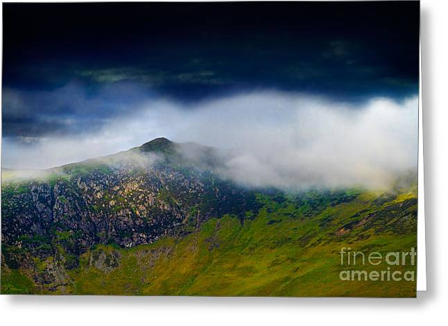 Maiden Greeting Cards - Clouds over Bull Crag and Maiden Moor Greeting Card by Louise Heusinkveld