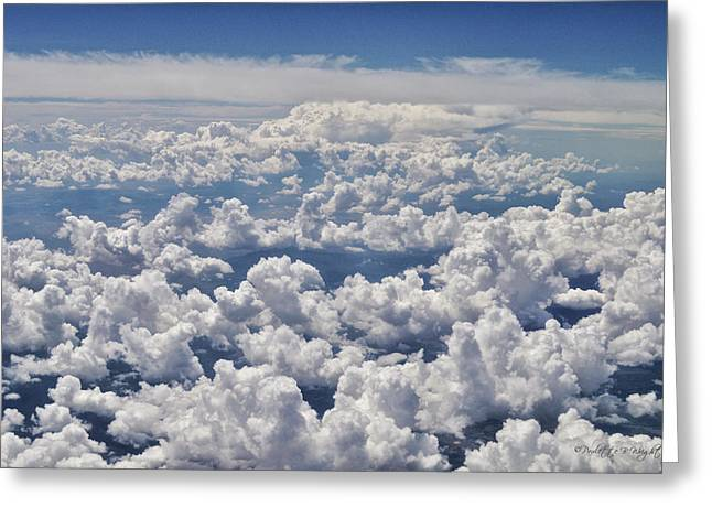Cabin Interiors Digital Greeting Cards - Clouds Over California Greeting Card by Paulette B Wright