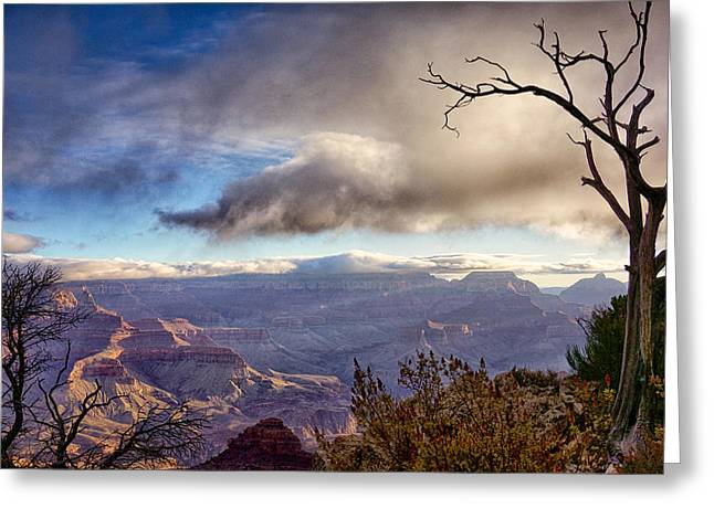 Greeting Cards - Clouds Over Canyon Greeting Card by Lisa  Spencer