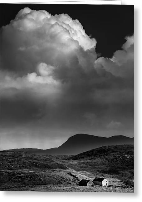 Storm Clouds Greeting Cards - Clouds over Clashnessie Greeting Card by Dave Bowman