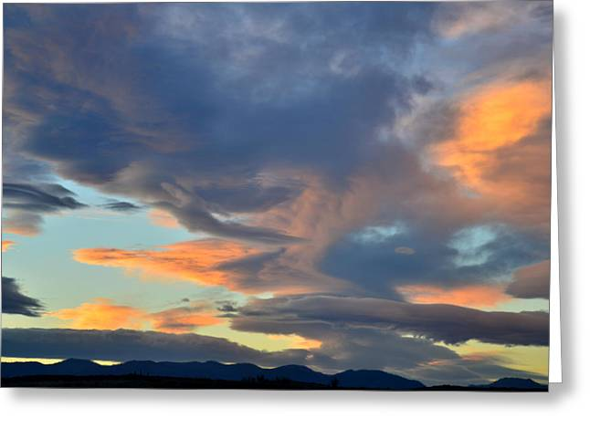 Clouds over Colorado Greeting Card by Ray Mathis