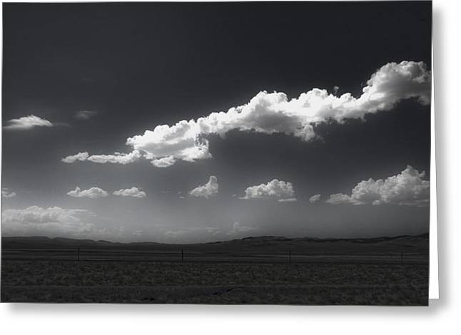 Clouds Over Fallon Nevada Greeting Card by Gregory Dyer