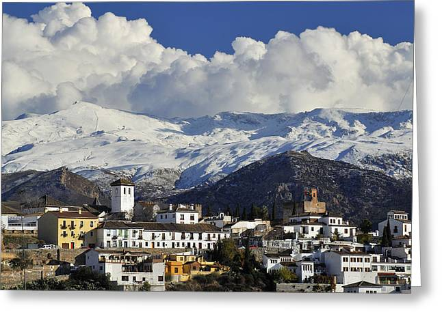 Granada Greeting Cards - Clouds over Granada Greeting Card by Guido Montanes Castillo