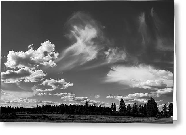 Nimbus Greeting Cards - CLOUDS over HATCH RD Greeting Card by Daniel Hagerman
