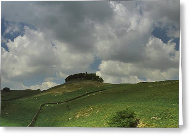 Middleton Greeting Cards - Clouds Over Kirkcarrion Copse Greeting Card by Panoramic Images