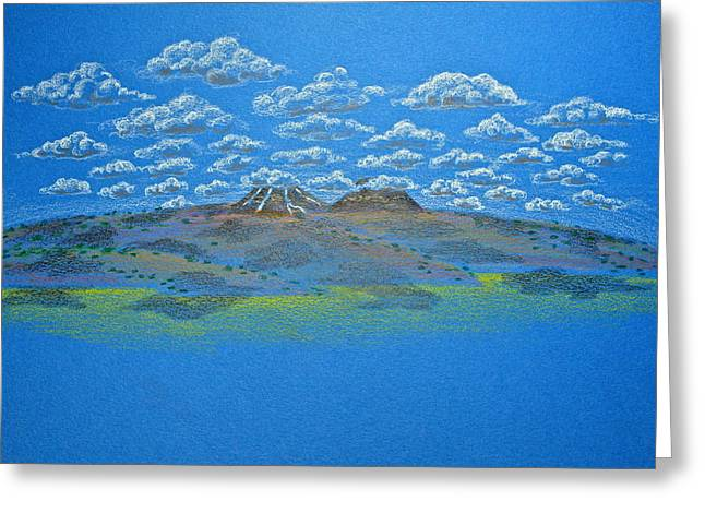 Spring Scenes Drawings Greeting Cards - Clouds Over Lassen Greeting Card by Michele Myers