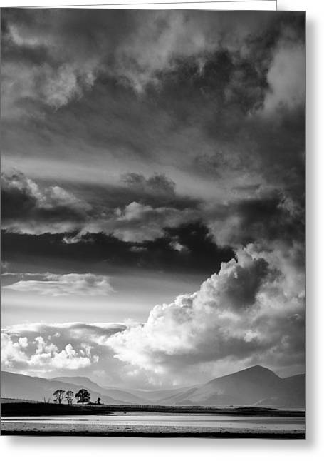 Clouds Over Loch Laich Greeting Card by Dave Bowman