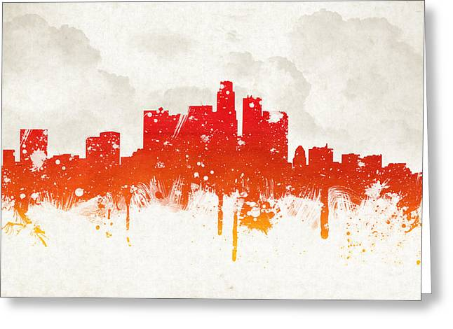Clouds Over Los Angeles California Greeting Card by Aged Pixel
