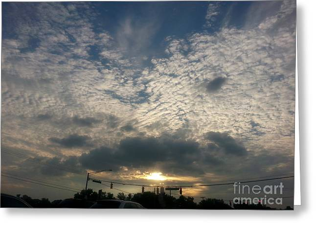 Clouds Over Maryland Greeting Card by Emmy Marie Vickers