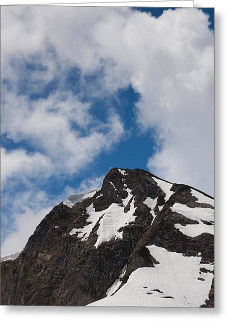 World Locations Greeting Cards - Clouds Over Mountain Peak, Carousel Greeting Card by Panoramic Images
