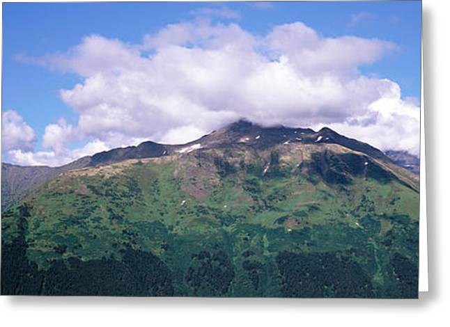 Seward Greeting Cards - Clouds Over Mountain Range, Seward Greeting Card by Panoramic Images