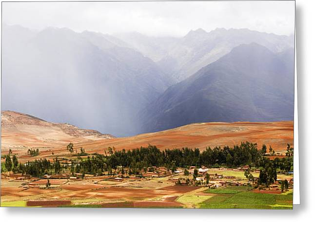 Andes Greeting Cards - Clouds Over Mountains, Andes Mountains Greeting Card by Panoramic Images