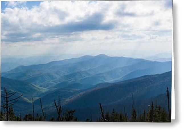 Clingmans Dome Greeting Cards - Clouds Over Mountains, Great Smoky Greeting Card by Panoramic Images