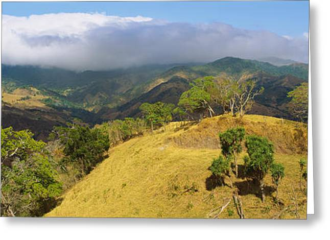 Costa Greeting Cards - Clouds Over Mountains, Monteverde Greeting Card by Panoramic Images