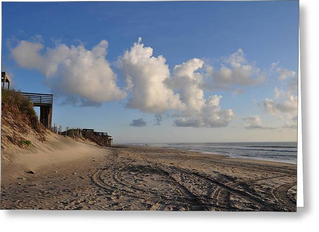 Paul Lyndon Phillips Greeting Cards - Clouds over Nags Head  OBX - 50945 Greeting Card by Paul Lyndon Phillips