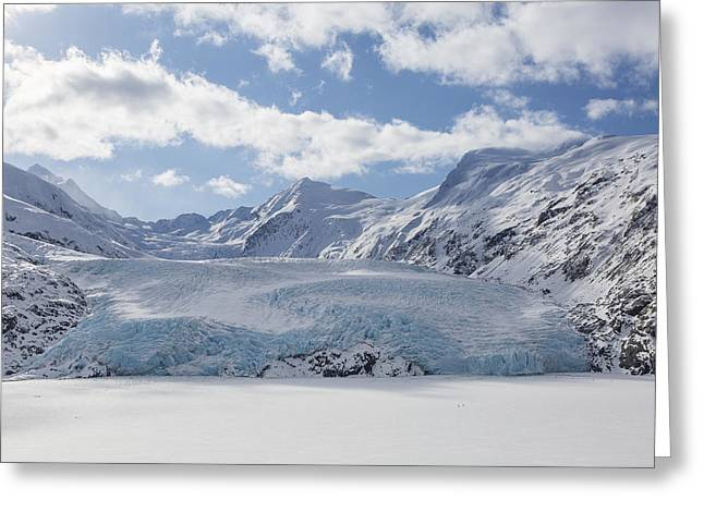 Portage Photographs Greeting Cards - Clouds over Portage Glacier Greeting Card by Tim Grams