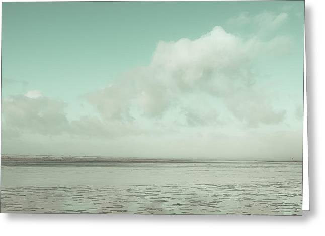 Ocean Art Photography Greeting Cards - Clouds over the Bay Greeting Card by Lucid Mood