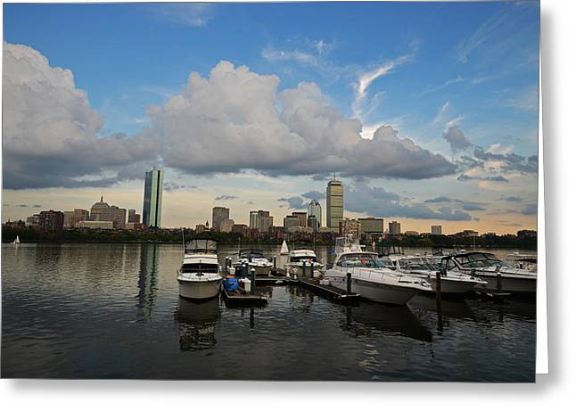 Charles River Greeting Cards - Clouds over the Charles River Greeting Card by Toby McGuire