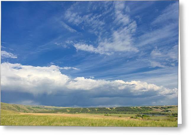 Canadian Foothills Landscape Greeting Cards - Clouds Over The Foothills Greeting Card by Heather Simonds