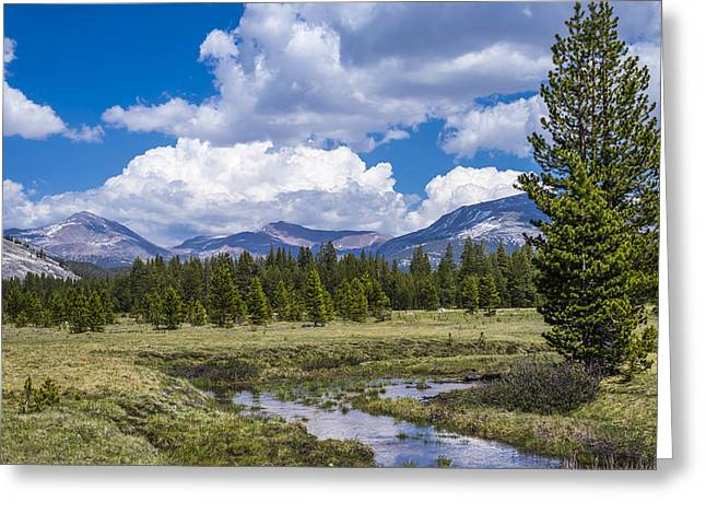 Paradise Meadow Greeting Cards - Clouds over the Meadow Greeting Card by Joseph S Giacalone