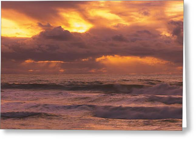 California Ocean Photography Greeting Cards - Clouds Over The Ocean, Pacific Ocean Greeting Card by Panoramic Images