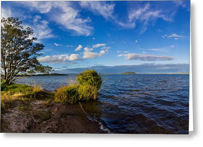 Ocean Photography Greeting Cards - Clouds Over The Pacific Ocean, Rotorua Greeting Card by Panoramic Images