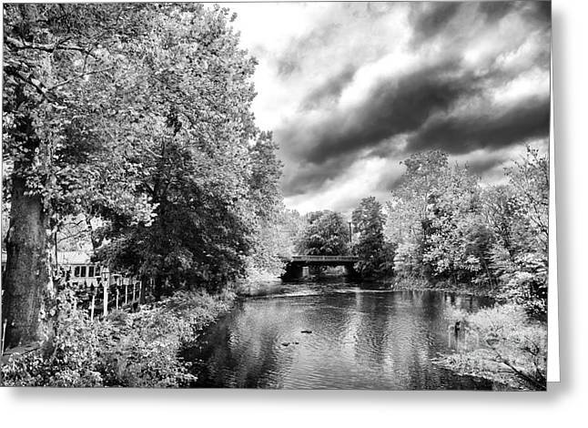 Raritan River Greeting Cards - Clouds over the Raritan River Greeting Card by John Rizzuto