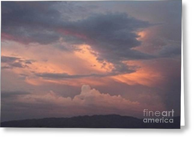 Rincon Mountains Greeting Cards - Clouds over the Rincons Greeting Card by Jerry Bokowski