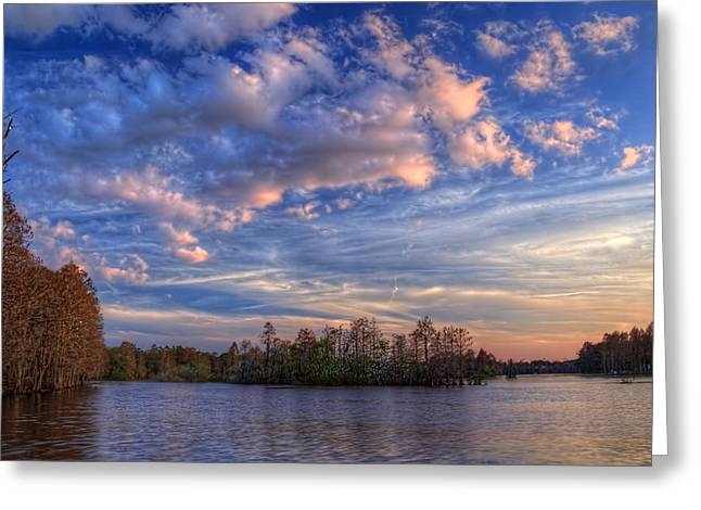 Clouds Over The River Greeting Card by Marvin Spates