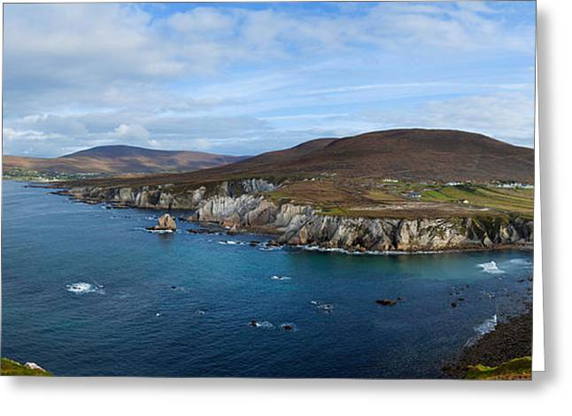 Scenic Drive Greeting Cards - Clouds Over The Sea, Atlantic Drive Greeting Card by Panoramic Images