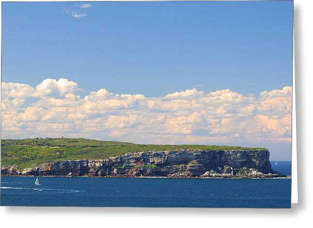 Peaceful Scene Greeting Cards - Clouds over the sea Greeting Card by Celso Diniz