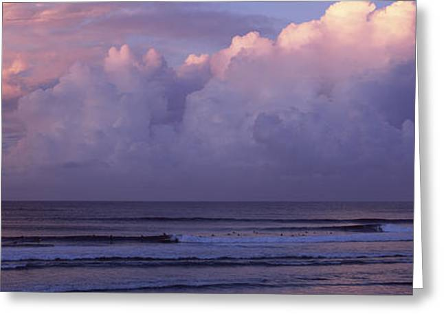 Reflection In Water Greeting Cards - Clouds Over The Sea, Gold Coast Greeting Card by Panoramic Images