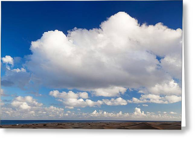 Clouds Over The Sea, Maspalomas, Grand Greeting Card by Panoramic Images