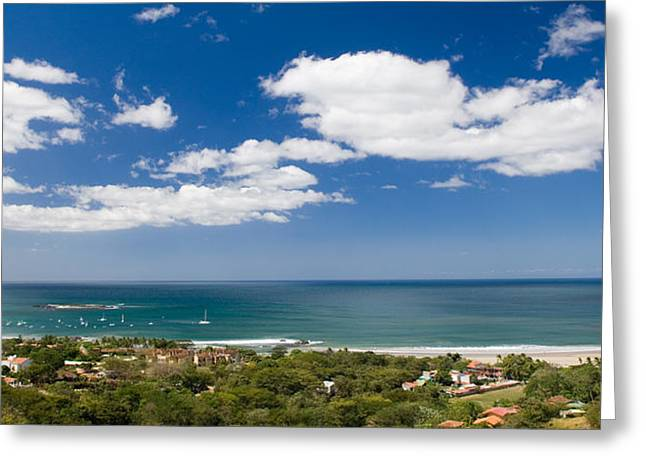 Costa Greeting Cards - Clouds Over The Sea, Tamarindo Beach Greeting Card by Panoramic Images