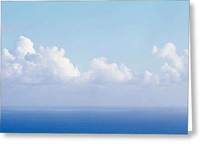 Virgin Gorda Greeting Cards - Clouds Over The Sea, Virgin Gorda Greeting Card by Panoramic Images