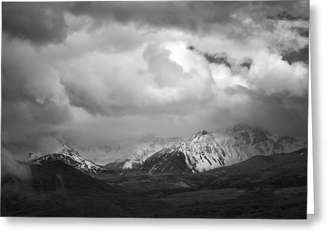 Colorado Artwork Greeting Cards - Clouds Over the Top Greeting Card by Jon Glaser
