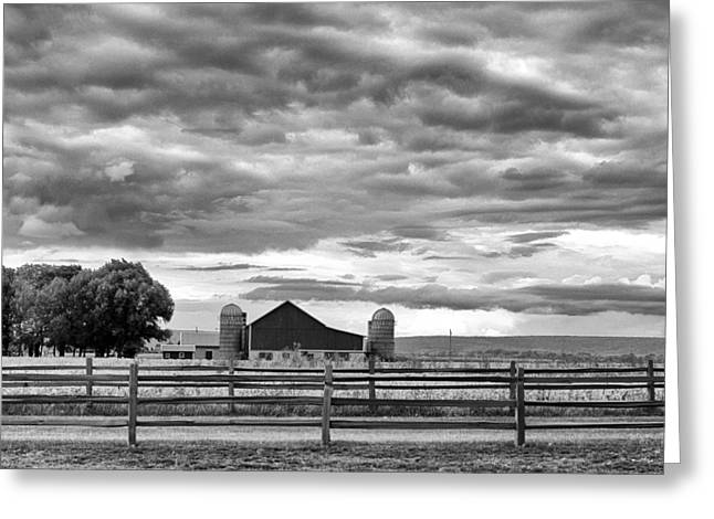 Storm Cloud On The Horizon Greeting Cards - Clouds Over the Upper Midwest Greeting Card by Christi Kraft