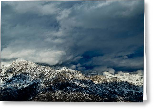 Utah Weather Greeting Cards - Clouds Over The Wasatch Mountains Greeting Card by Panoramic Images