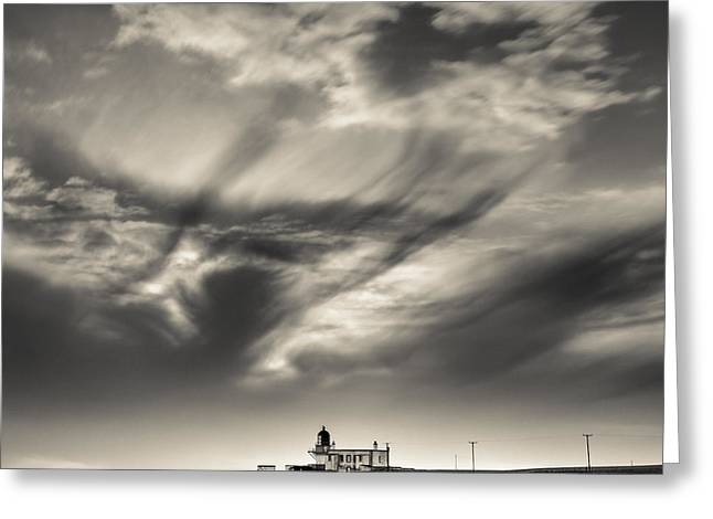 North Sea Greeting Cards - Clouds over Tod Head Greeting Card by Dave Bowman