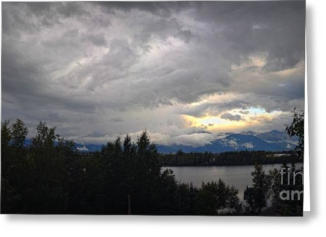 Wasilla Greeting Cards - Clouds over Wasilla Lake Greeting Card by Joyce Marie Martin