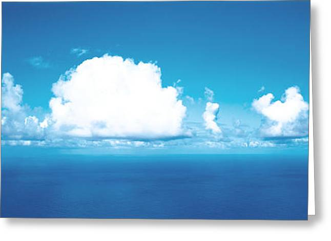 Cloud Formations. Cloud Photography Greeting Cards - Clouds Over Water Greeting Card by Panoramic Images