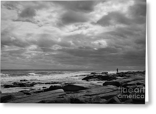 New England Coast Greeting Cards - Clouds Rolling In Greeting Card by Diane Diederich