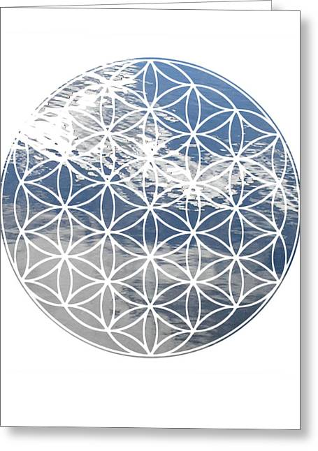 Sacred Geometry Greeting Cards - Clouds Greeting Card by Sacred Geometry