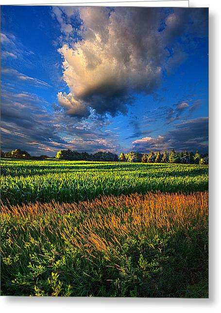 Geographic Greeting Cards - Clouds Skirt the Southern Sky Greeting Card by Phil Koch
