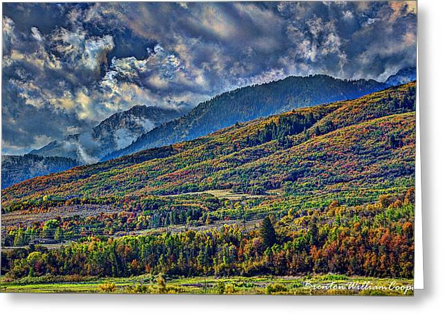 Sweating Photographs Greeting Cards - Clouds Sweating On Autumn Greeting Card by Brenton Cooper