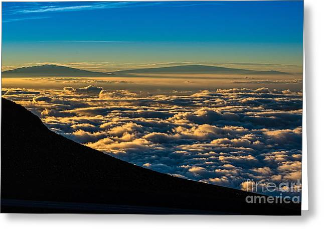 Above The Clouds Greeting Cards - Clouds - the summit of Haleakala Volcano in Maui. Greeting Card by Jamie Pham