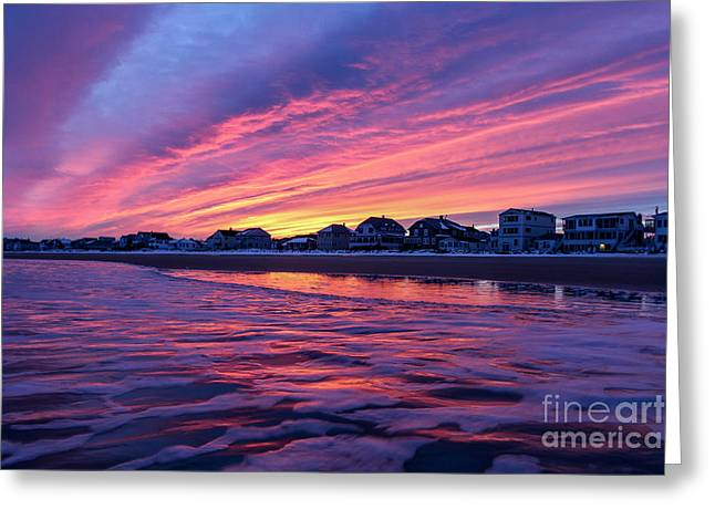 Old Maine Houses Greeting Cards - Clouds Water and Color Greeting Card by Joe Far Photos