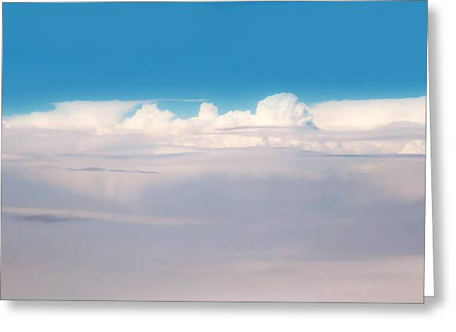 Cloud Formations. Cloud Photography Greeting Cards - Cloudscape. Blue and White Greeting Card by Jenny Rainbow